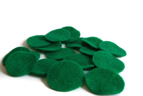 Kelly Green Felt Circles (To see price please choose the diameter)