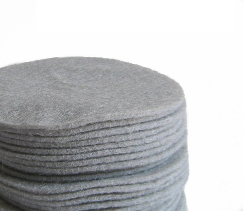Gray Felt Circles (To see price please choose the diameter)