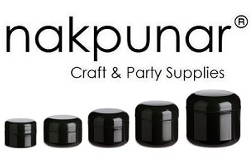 Our black double wall plastic jars with Lids available in 1/4 oz, 1/2 oz, 1 oz, 2 oz, 4 oz and 8 oz. This shiny expensive looking, high quality jars are usually use to store beauty, cosmetic products such as creams, lotions, body and face products, craft and office supplies. Use them for your travels, cosmetic business or gift packaging.