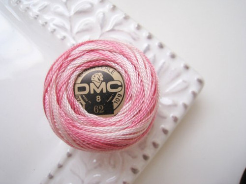 DMC Pearl Cotton Embroidery Thread Balls Size 8 - 62 Variegated Light Pink