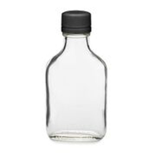 100 ml Glask Flask Bottle with Black Cap