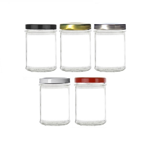 7.5 oz Flat Mason Jar with Lid