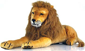 lars the lion giant stuffed lion giant stuffed animals. Black Bedroom Furniture Sets. Home Design Ideas