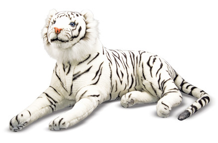 Zenna The White Tiger Giant Stuffed White Tiger Giant Stuffed
