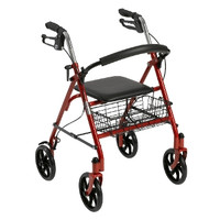"""Durable 4 Wheel Rollator with 7.5"""" Casters"""