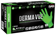 Powder-free exam grade nitrile Thickness: 6 mil Non-latex High-visibility green color Outstanding strength, wear and dexterity Fully textured for enhanced gripping power 100 gloves per box