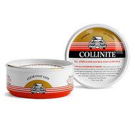 A Mr. Collins original, this classic carnauba/polymer blend is also Collinite's most durable. Holds up month after month against harmful outdoor corrosives; UV, rain, snow, salt, dust, dirt, grime, bugs, staining and more. Ideal as a winter wax when both lasting shine and all-season/all-conditions protection are equally crucial. Handcrafted and handpoured in the USA.