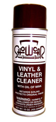 Vinyl and Leather cleaner with mink oil cleans and retards soiling while protecting and conditioning .