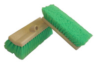 TB-10DFCR Bi-level Nylex Car/Truck Wash Brush. 2.5 in. super soft nylex bristles are resistant to acids and detergents. Staple-set in a large 10 in. bi-level foam block. Use with any standard screw handle. Item weight 1.5 lbs.