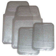Hi-Tech 4210 Clear Plastic 4 piece Floor Mats