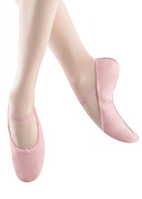 *Leather *Leather sole *Elastic drawstring *Cotton lining  They are a perfect color for a pink loving little girl!