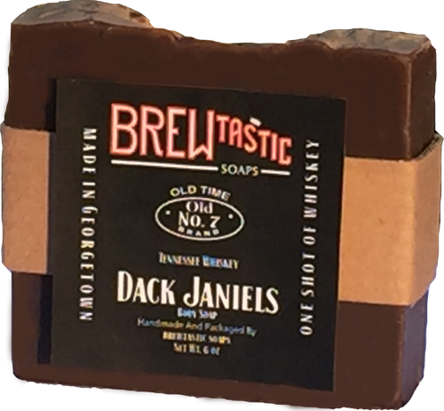 Each bar is made with one full shot of whiskey! The smooth, sweet blend gives this soap a very nice lather and a dark, aged color. Concentrated down to notes of vanilla, caramel, and maple, the perfect balance of fine whiskey and soap can be enjoyed in the shower.