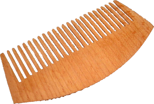 Cut from Beech wood, this high quality comb glides through beards without any snags. Each tooth is sanded with a smooth finish that mass-cut plastic combs cannot achieve. Treat your beard right.