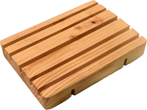 This raw pine soap deck will allow your bar soap to evenly air-dry between uses. Don't lose half of your soap because it stuck to the tub! Looks great paired with our soaps and doubles the life of each bar!