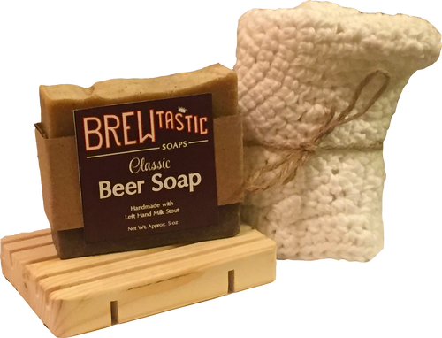 Made from 100% Organic Cotton, this tightly knitted washcloth is a must-have for bar soap. Get the greatest lather that our brew-based soaps have to offer and extend the life of your soap by double!