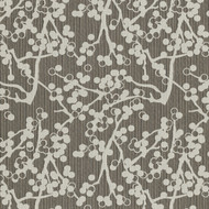 Cherries Charcoal Upholstery Fabric