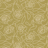 Bed of Roses Green Upholstery Fabric