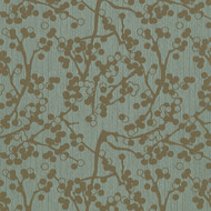 Cherries Teal Upholstery Fabric
