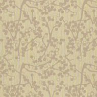 Cherries Beige Upholstery Fabric Swatch