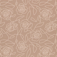 Bed of Roses Cream Upholstery Fabric Swatch