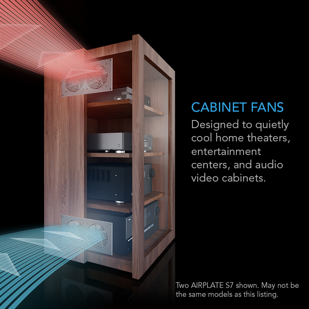 AIRPLATE S1, Home Theater and AV Quiet Cabinet Cooling Fan System ...