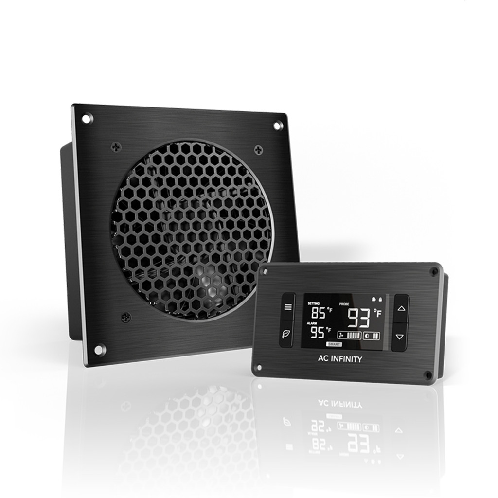 AIRPLATE T3, Home Theater And AV Quiet Cabinet Cooling Fan System, 6 Inch