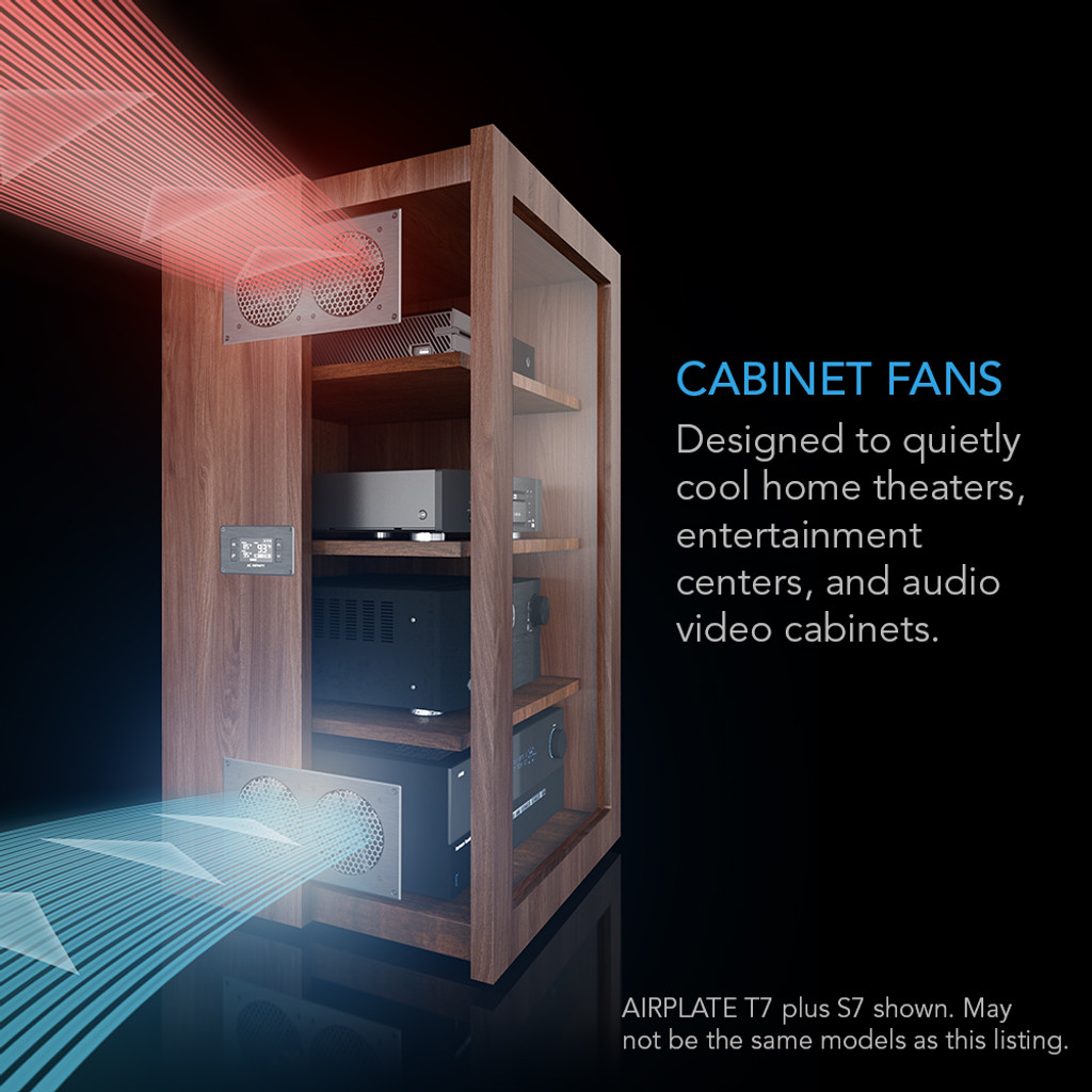 AIRPLATE T9, Home Theater and AV Quiet Cabinet Cooling Fan System ...