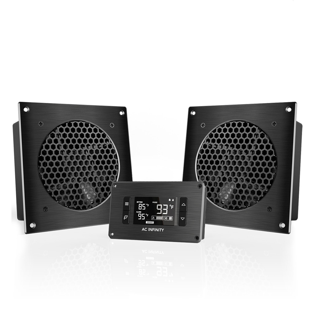 AIRPLATE T8, Home Theater And AV Quiet Cabinet Cooling Dual Fan System, 6  Inch