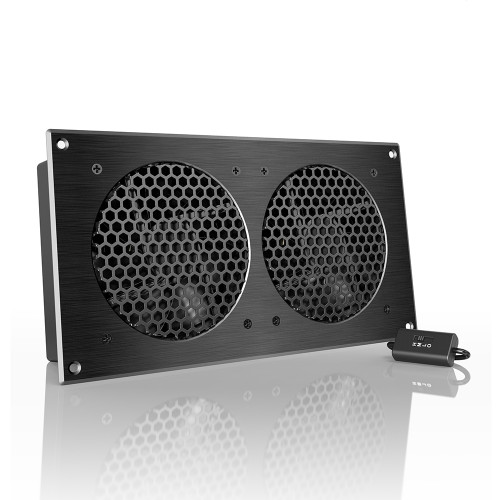AIRPLATE S7, Home Theater and AV Quiet Cabinet Cooling Fan System, 12 Inch