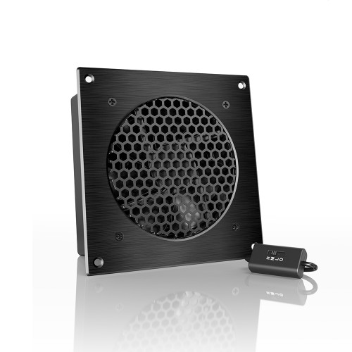 AIRPLATE S3, Home Theater and AV Quiet Cabinet Cooling Fan System, 6 Inch