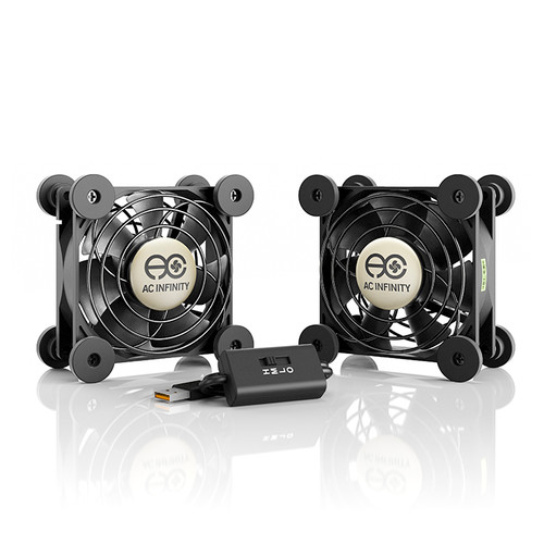 Dual 80mm Quiet USB Fan