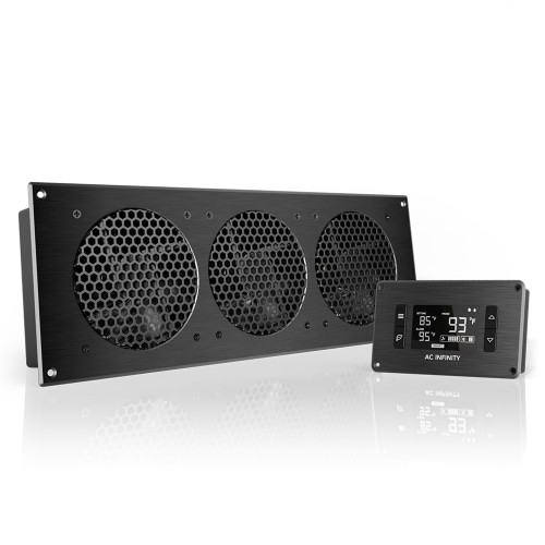AIRPLATE T9, Home Theater and AV Quiet Cabinet Cooling Fan System, 18 Inch