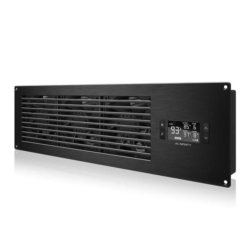 AIRFRAME T9-N PRO, AV Equipment Closet and Room Fan System, Black Intake