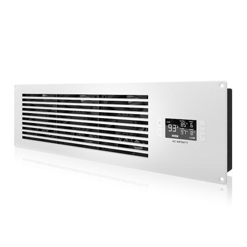 AIRFRAME T9-N PRO, AV Equipment Closet and Room Fan System, White Intake