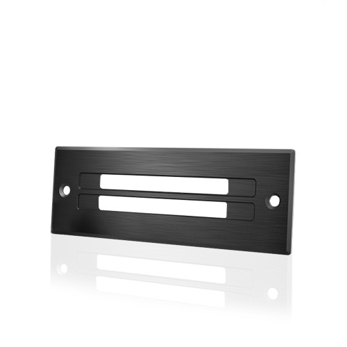AC INFINITY, Cabinet Ventilation Grille Black, 6 Inch Low-Profile