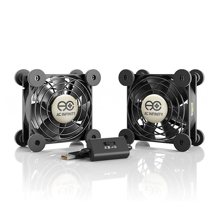 MULTIFAN S5, Quiet USB Cooling Fan, Dual 80mm - AC Infinity