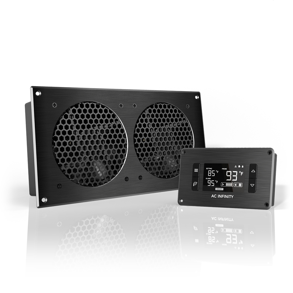 AIRPLATE T7, Home Theater and AV Quiet Cabinet Cooling Fan System ...