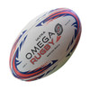 The Omega Rugby match ball is constructed with a top quality rubber outer, including a long lasting dimpled finish, for superior grip and tackiness in all weather conditions. Hand stitched and balanced for superior flight and accuracy, an ideal ball for club, school and junior rugby.