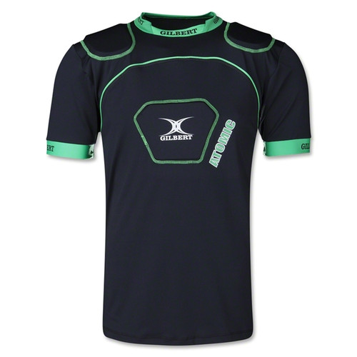 Gilbert Atomic V2 Armour has been designed to ensure maximum support with no restrictions to your freedom of movement. With 3 strategically positioned pads, over the shoulders and sternum along with technical base layer fabric, this protection is best suited to the playing level of club and junior levels both on the training ground and in match play.