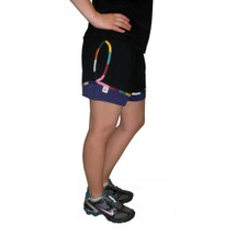 Cancer Awareness Multi Colored Ribbon Exercise Shorts by Live for Life