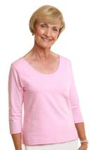 WearEase Reversible T in Pink