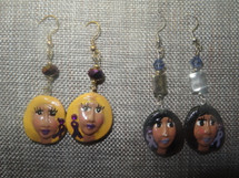 Judy's JEMs Clay Customizable face Long Support Earrings