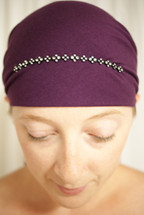 Delicate Rhinestone Self Tie Head Scarf in assorted colors by Sparkle my head scarves