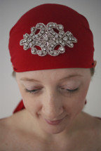 Crystal Crest Self Tie Head Scarf in assorted colors  by Sparkle your head Scarves
