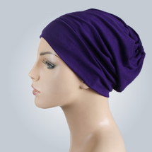 Purple Casual modal knit Hat by Turban Diva