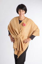 Camel Fleece Chemo Wrap by Wrapped in Love