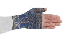 Lymphedivas Compression Gauntlet Blue Bandit Pattern