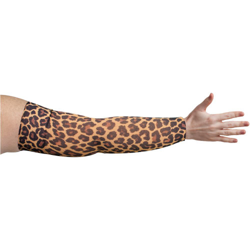 Compression Arm Sleeve for lymphedema by Lymphedivas in Leo Pattern