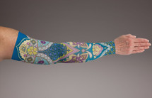 Compression Arm Sleeve for lymphedema by Lymphedivas in Magnolia Pattern