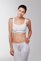 Front closure leisure and radiation mastectomy bra